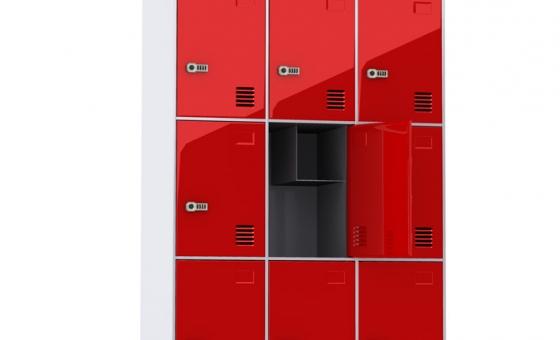 Wizualizacja szafki szkolnej