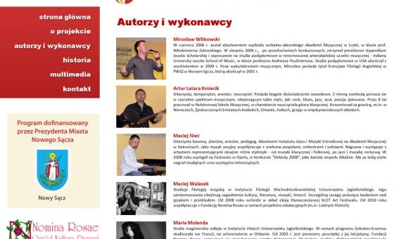 Strona wewnętrzna prezentacji