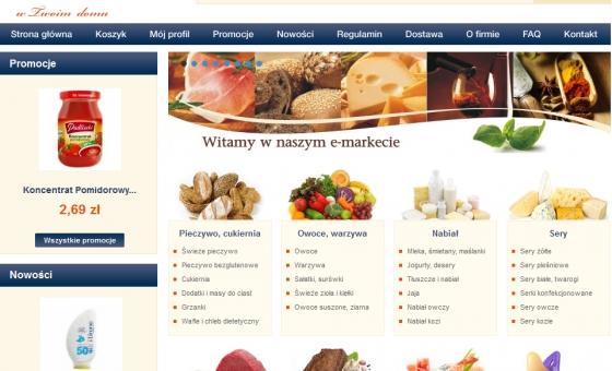 strona główna sklepu internetowego