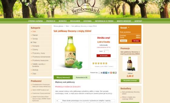 widok opisu produktu w sklepie internetowym