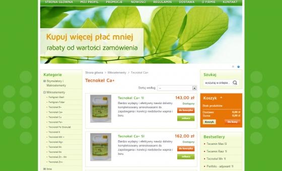 lista produktów w sklepie internetowym
