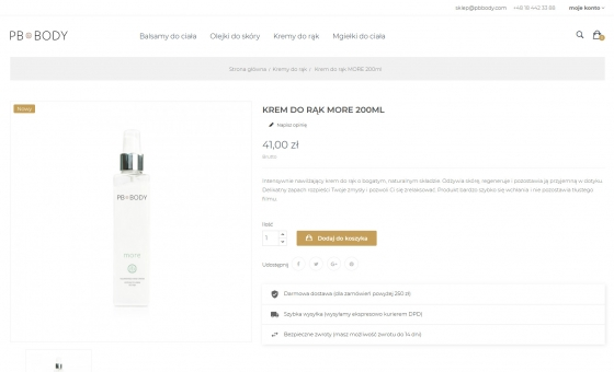 widok opisu produktu w sklepie www